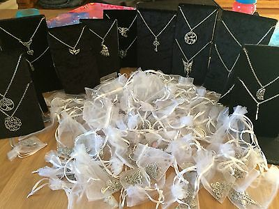 Job Lot 120 Mixed  Tibetan Silver Necklaces and 40 Mixed Earrings