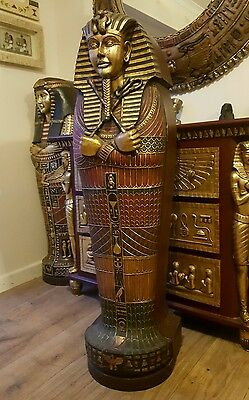 Egyptian Sarcophagus King Tutankhamen Cabinet 7 Shelves 4 Ft Tall Rrp £999.00