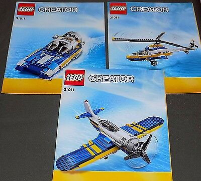 LEGO Instruction Manual for Set Creator 31011 Books only No Lego Parts 3 Books