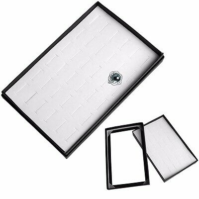 36 Slot Ring Jewelry Display Storage Box Tray Show Organiser Case Earring Holder