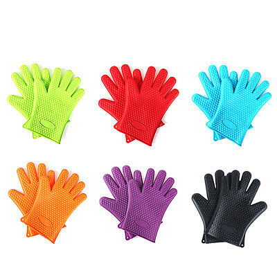 BBQ Silicone Thick Heat Insulation Microwave Oven Heatproof Anti Scald Glove