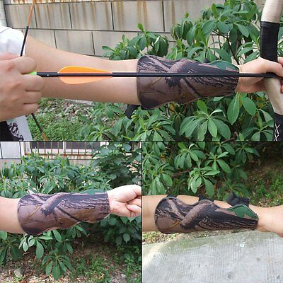 Tactical Leaf Camo Archery Arrow Arm Guard Strap Bracer Quick Release Hunter New