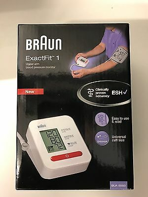 Braun BUA5000 Exact Fit One Automatic Upper Arm Blood Pressure Monitor - NEW