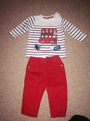 Boys Next Outfit Red 6-9 Months