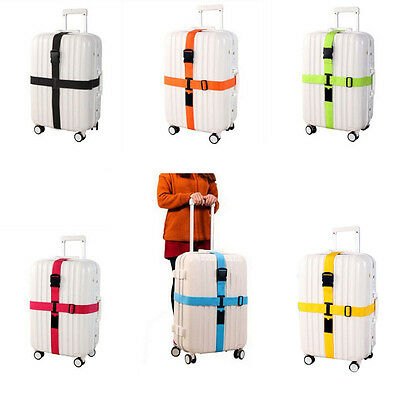 New Adjustable Travel Luggage Baggage Suitcase Bag Packing Strap Secure Belt Red