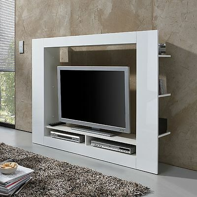 roomscape tv medienwand cinema in wei wohnwand anbauwand schrankwand tv wand eur 69 99. Black Bedroom Furniture Sets. Home Design Ideas