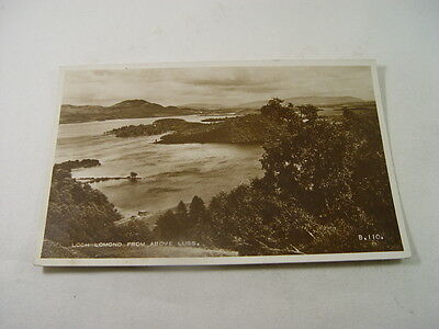 TOP12795 - Valentine's Real Photo Postcard - Loch Lomond from Above Luss