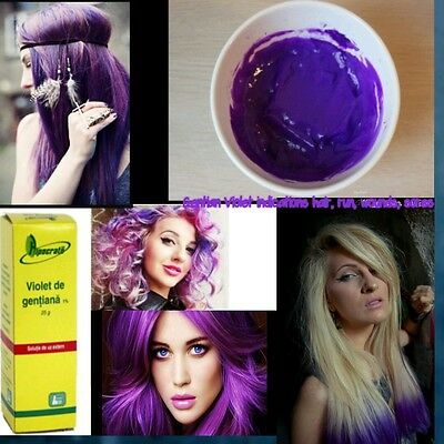 Gentian Violet indications hair, run, wounds, sores people and pet's