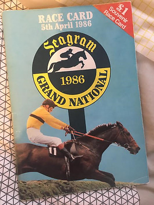 Richard Dunwoodys Grand National Winning Race Cards 1986 and 1994