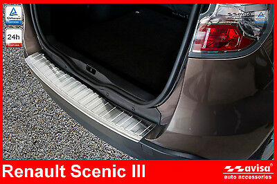 RENAULT SCENIC 3 Rear Bumper Protector Guard 2/35953 Stainless Steel Chrome Inox