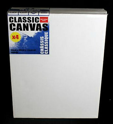 Pack Of 4 Blank  Artist Canvas / Canvases - Size 24 X 30 Cms - For Painting /art