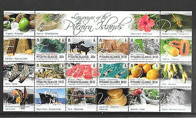 Pitcairn Islands 2016 NEW ISSUE  Picairn Languages Sheetlet MNH