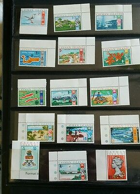 CAYMAN ISLANDS QEII Definitives 1969-70 MNH to £1 15 stamps