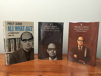 Philip Larkin. All What Jazz. Required Writing. Faber. 3 Volumes.