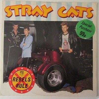"Stray Cats ‎– Rebels Rule (1980s ROCK, ROCKABILLY) VINYL 12"" 45RPM SINGLE"