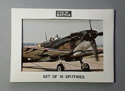One pack of 16 RAF Spitfire WWII Aircraft Postcards - Unused