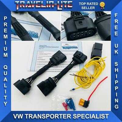 For VW T5 To T5.1 Headlight Harness Upgraded Version **Brand New**
