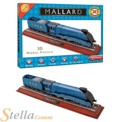 3D Mallard Puzzle Build Your Own Gresley A4 Steam Train Model Jigsaw 155 Piece