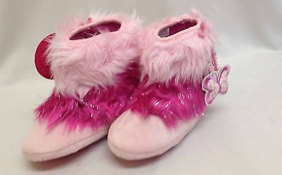 New Barbie kids girls fur boots angels pink color snow shoes Sizes in UK 7/8