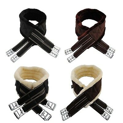 New Quality Sheepskin Synthetic Fur Nylon Girth Horse,Cob,Pony,Elasticated DRing