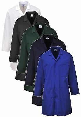 PORTWEST 2852 Fortis black,green,navy,royal or white warehouse lab coat - S-3XL