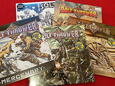 Paket 5x BOLT THROWER Vinyl LP LTD Realm Those  Mercenary Battle Honour Splatter