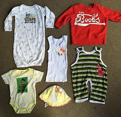 Sz 3-6months Baby Unisex NWOT (seconds) lot x6 Mixed Items