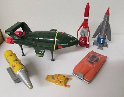 Thunderbird 1 2 3 4 5 Bundle Vehicles Figure Fab 1 Mole 6 Items (7)