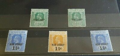 Cayman Islands Selection of War stamps