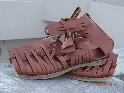 Roman Sandals Sartan Army Gladiator Greek Leather Armor Sca Shoes Replica