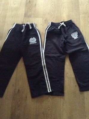 X2 Boys Black Joggers Age 8 Years