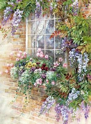 """Counted Cross Stitch Kit """"Window Garden"""" by Andrea's Designs"""