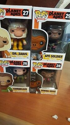 Set of 4 Planet of the Apes Pop! Vinyls