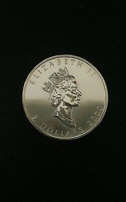 Silver $5 Maple Leaf Coin Canadian Bullion .9999 pure