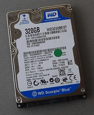 "Disque dur 2.5"" Hard Disk Drive HDD Western Digital 320GB 5400 rpm WD3200BEVT"