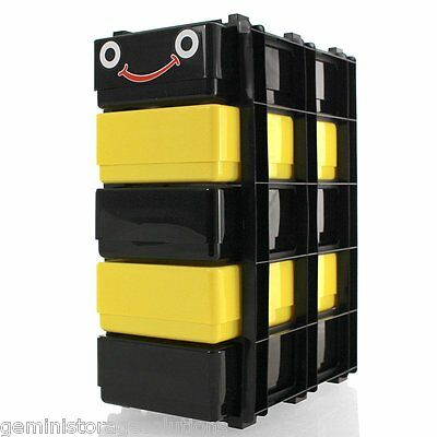 5 x DL Storage Boxes In A Stak/Drawer Tower Bug Box Stak