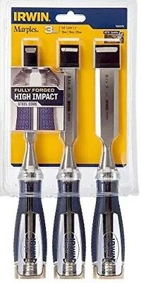 Irwin Marples MS750 Split proof Soft Touch Set Of 3 Chisels SAME DAY DISPATCH!!!