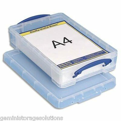 Really Useful 4 litre craft, paper, hobby, sewing ,storage clear plastic box