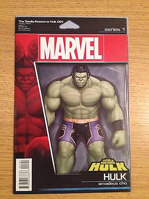 The Total Awesome Hulk 001 Action Figure Variant Comic Marvel