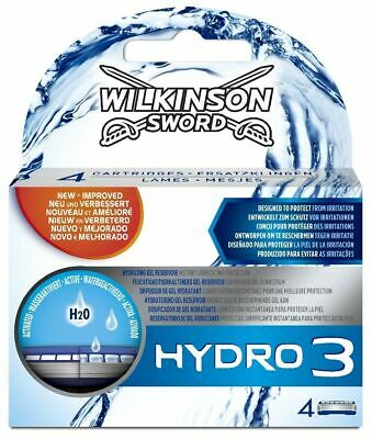 Wilkinson Sword Hydro 3 Razor Blades x 16, 4 Packs of 4 Mens Shaving Genuine