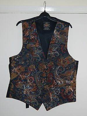 Vintage Brown's Made In England Black Mix Men's Waistcoat Size Large