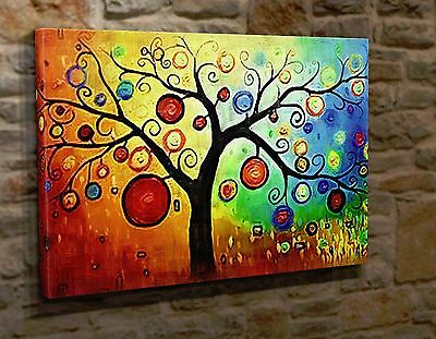 Extra Large Wall Art Canvas Print Picture Abstract Tree HT09
