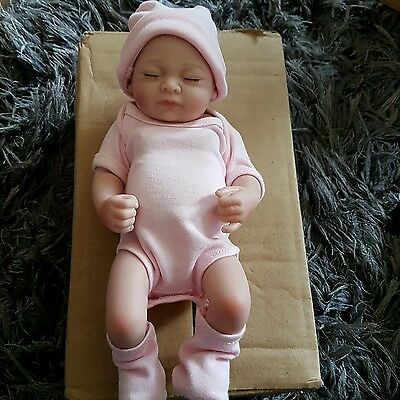 KAYDORA 10 Inches Full Body Vinyl Soft Silicone Reborn Baby Girl Doll