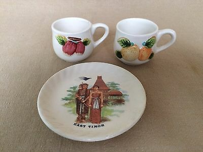 Vintage GARUDA Indonesia Airline - 2 Espresso Cups and a Saucer - Hanmax