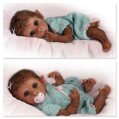 Ashton Drake - CLEMENTINE NEEDS A CUDDLE monkey baby doll by Linda Murray