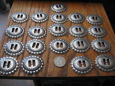 20 Heavy Slot Conchos 1 5/8 By 1 7/8 Heavy Weight