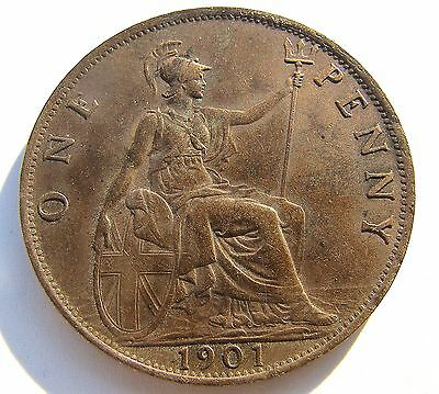 1901 Britain Penny -  Nice circulated condition