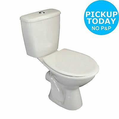Lavari Basics Close Coupled Toilet and Seat - White. From the Argos Shop on ebay
