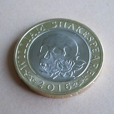 £2 Coin - William Shakespeare Tragedies Skull and Rose.