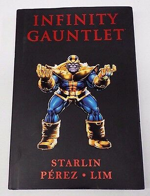 Infinity Gauntlet HC Hardcover Book / First Printing Premiere Edition / Used